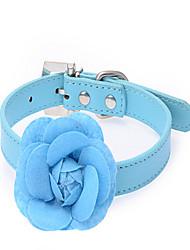 preiswerte -Hund Halsbänder Regolabile / Einziehbar Atmungsaktiv Sicherheit Traning Solide Stoff Rot Blau Rosa