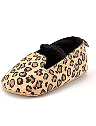 Baby Kids' Loafers & Slip-Ons First Walkers Synthetic Summer Fall Party & Evening Dress Casual Animal Print Flat Heel Brown Flat