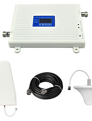 cheap -CDMA 850Mhz DCS 1800Mhz Mobile Phone Signal Booster Repeater with Ceiling Antenna / Log Periodic Antenna / Cable / LCD Display / Dual Band / White