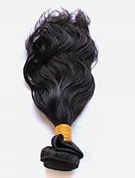 cheap -50g/1Pcs 8-28inch Peruvian Virgin Hair Natural Wave Natural Black Human Hair Weft Bundles.
