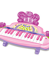 cheap -Dollhouse Accessory Toy Instruments Electronic Keyboard Toys Fun Piano Plastics Pieces Kids' Kid Birthday Gift