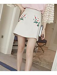 preiswerte -Damen Retro Mini A-Linie Röcke - Blumen, Druck