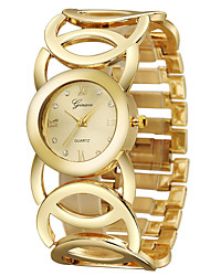 Women's Wrist watch Quartz Stainless Steel Band Bangle Cool Gold