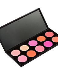 Pro Makeup Pressed Powder Blush Palette Cosmetic Shimmer 10 Color Glitter Matte Warm Face Pigment Cheerbones Blusher Beauty Set