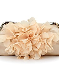 Bags Silk with Lace Floral for Champagne White Black Red