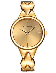 abordables -Mujer Reloj de Pulsera Reloj Pulsera Cuarzo Gran venta Aleación Banda Encanto Plata Dorado Oro Rosa