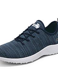 Herren Sportschuhe Komfort PU Frühling Herbst Lässig/Alltäglich Walking Komfort Schnürsenkel Flacher Absatz Schwarz Rot Blau 5 - 7 cm