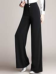 cheap -Women's Classic & Timeless Wide Leg Pants - Solid Color