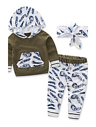 Boy's Fashion Sports Camouflage Hoodies Floral SetsCotton Fall Fall/Autumn Long Pant Baby Clothes Kids Clothing Set