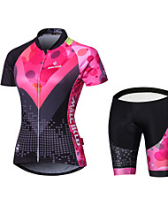 cheap -Malciklo Women's Long Sleeves Cycling Jersey with Shorts - Black British Geometic Bike Padded Shorts / Chamois Tights Jersey Clothing