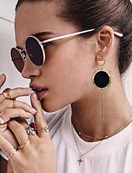 cheap -Women's Drop Earrings Hoop Earrings Earrings Basic Fashion Copper Iron Jewelry Gold Christmas Gifts Christmas Wedding Party Special