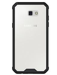 Недорогие -Кейс для Назначение SSamsung Galaxy A5(2017) A3(2017) Защита от удара Прозрачный Задняя крышка Сплошной цвет броня Твердый Акриловое