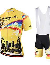 cheap -Miloto Cycling Jersey with Bib Shorts Men's Women's Kid's Unisex Short Sleeves Bike Bib Shorts Sweatshirt Jersey Bib Tights Quick Dry