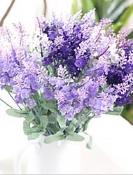 abordables -13inch 1 branche soie lavande fleurs artificielles décoration de la maison