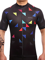 SUREA Cycling Jersey Men's Short Sleeves Bike Jersey Top Quick Dry Breathable Sweat-wicking Coolmax LYCRA® Classic Summer Cycling/Bike