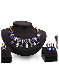 Women's Jewelry Set Multi-stone Garnet Statement Jewelry Fashion Vintage Personalized Euramerican Luxury Synthetic Gemstones Gold Plated