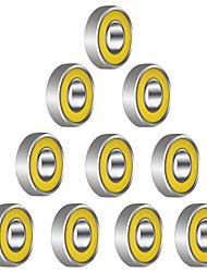 608r 21mm x 7 mm metallia suojattu säteiskuulalaakerit urakuulalaakerit varten Fidget spinner lelu --- 10 kpl