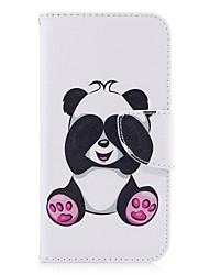 preiswerte -Hülle Für Samsung Galaxy A5(2017) A3(2017) Geldbeutel Kreditkartenfächer mit Halterung Flipbare Hülle Geprägt Muster Handyhülle für das