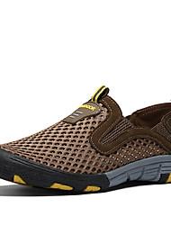 Masculino sapatos Tule Verão Outono Conforto Mocassins e Slip-Ons Aventura Para Diário Esportes Roupas para Lazer Cinzento Marron Verde