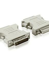 baratos -DVI Adaptador, DVI to DVI Adaptador Macho-Fêmea 720p Aço niquelado