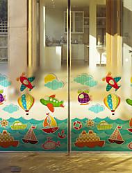 cheap -Art Deco Contemporary Window Sticker, PVC/Vinyl Material Window Decoration Dining Room Bedroom Office Kids Room Living Room Bath Room