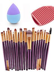 20pcs Eye Brush Purple Gold &Small Liquid Latex Water Droplet Puff &Makeup Brush Eggs