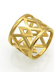 Herre Dame Båndringe Statement-ringe Ring Smykker Rundt design Unikt design Geometrisk Mode Vintage Personaliseret Klippe Euro-Amerikansk