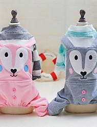 Недорогие -Другое Футболка Комбинезоны Одежда для собак Животное Зеленый Розовый Хлопко-полимерная смешанная ткань Хлопок Костюм Назначение Весна & осень Муж. Жен. На каждый день