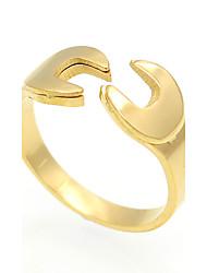 cheap -Men's Women's Ring Statement Ring Band Ring Personalized Geometric Unique Design Vintage Euramerican Fashion Double-layer Rock Titanium