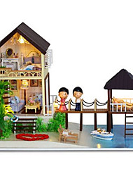 cheap -CUTE ROOM Model Building Kit Toys DIY Wood Classic Pieces Unisex Gift