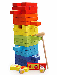 cheap -Board Game Stacking Games Stacking Trumbling Tower Toys Square Education Large Size Wooden Children's Kids Pieces