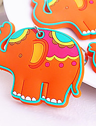 Lucky in Love Elephant Rubber Key Chain Beter Gifts® Baby Birthday Giveaways