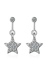 Women's Earrings Set AAA Cubic Zirconia Hypoallergenic Zircon Platinum Plated Geometric Jewelry 147 Party/Evening Dailywear Gift 1 pair