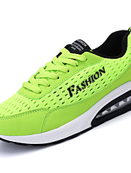 cheap -Men's Athletic Shoes Comfort Couple Shoes PU Tulle Spring Fall Outdoor Casual Lace-up Flat HeelRoyal Blue Black/White Rose Pink Gray Dark