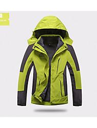 Hombre Mujer Chaquetas 3-en-1 Mantiene abrigado Impermeable Doble Cierre Ropa Interior/Prenda Interior para Esquí Primavera Invierno Otoño