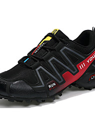 cheap -Men's Shoes PU / Tulle Spring / Fall Comfort Athletic Shoes Running Shoes Dark Blue / Gray / Black / Red