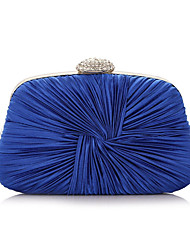 Women Bags All Seasons Silk Evening Bag Ruffles for Wedding Event/Party Casual Formal Professioanl Use Blue Gold White Black Violet
