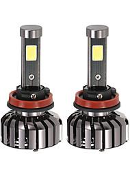 KKmoon Pair of H11 DC 12V 40W 4000LM 6000K LED Headlight Lamp Kit Light Bulbs