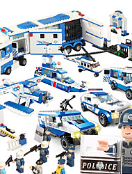 cheap -SHIBIAO Building Blocks Toys Warship Plane / Aircraft Police Military DIY Plastics Unisex 1040 Pieces