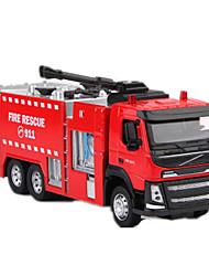 Недорогие -Игрушечные машинки Модель авто Пожарная машина Игрушки моделирование Корабль Грузовик Металл Куски Мальчики Универсальные Подарок