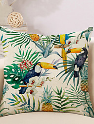 cheap -1 pcs Cotton / Linen Pillow Cover / Pillow Case, Novelty / Animal / Printing Vintage / Casual / Retro