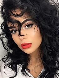 20 inch Wavy Human Hair Lace Front Wigs Dark Black #1 Black #1 B Dark Brown #2 Medium Brown #4 Wavy Glueless Lace Front