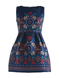 preiswerte -Damen Ausgehen Anspruchsvoll Skater Kleid - Druck, Blumen Mini