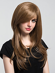 New Style Natural Partial Fringe Long Wavy Hair Synthetic Wigs For Woman