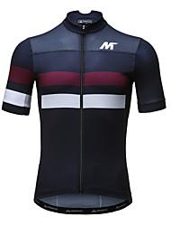 billiga Sport och friluftsliv-Mysenlan Herr Kortärmad Cykeltröja - Svart Cykel Tröja, Snabb tork, Andningsfunktion Polyester