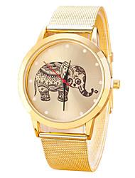 cheap -New Famous Brand Casual Elephant Quartz Watch Women Mesh Stainless Steel Dress Women Watches Relogio Feminino Clock Hot