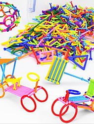 Approx 360PCS Novelty Creative Plastic DIY Smart Intelligence Stick 3D Assembly Building Blocks Construction Educational Toys Set Random Shape Color