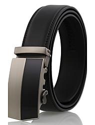 cheap -Men's Work Wedding Belt Leather Alloy Waist Belt - Solid Colored Fashion