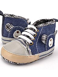 cheap -Children's Baby Shoes Canvas Winter Fall First Walkers Sneakers Animal Print Lace-up for Casual Party & Evening Dress Blue
