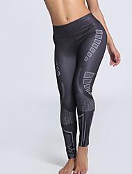 economico -leggings da donna con stampa media, galaxysporty fashion slim chic
